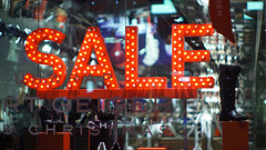 """Sale Sign Shop window night"" by Paul§"